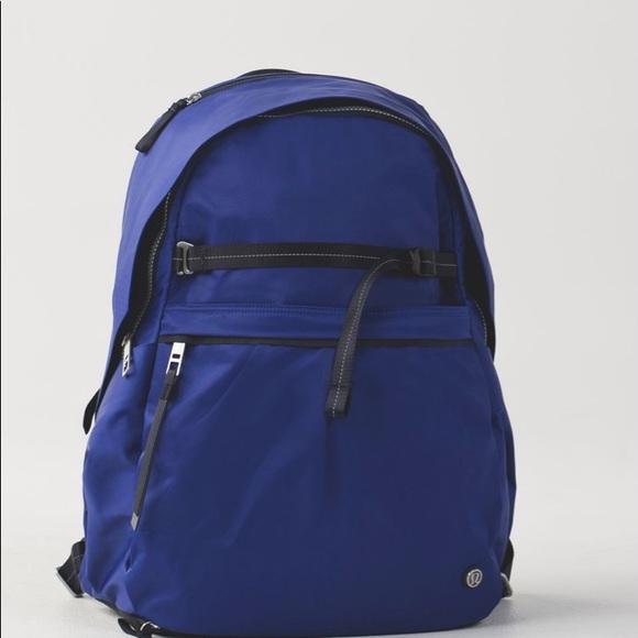Lululemon pack it up backpack yoga blue large bag
